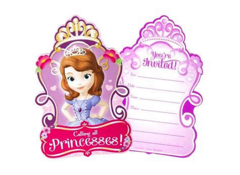 sofia the birthday card template sofia the supplies sweet pea