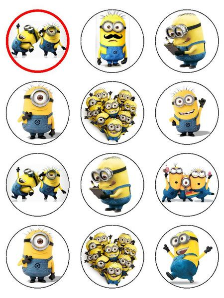 printable images minions 8 best images of minion cupcake toppers free printable