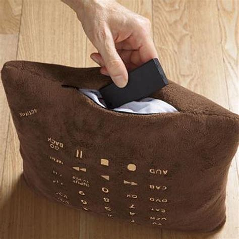 Brookstone Pillow Remote by Soft Pillow Doubled As Remote Gadgetsin
