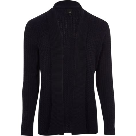 Cable Knit Open Front Cardigan navy cable knit open front cardigan jumpers cardigans