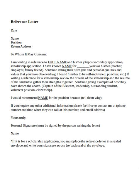 7 reference letter for teacher templates free sle