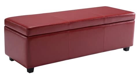 decorative storage ottoman storage ottoman bench rectangular faux leather foot stool