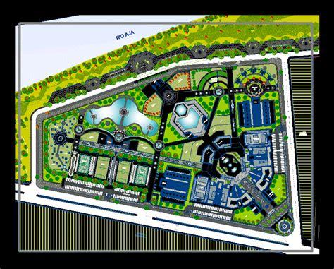 recreational center  dwg design plan  autocad