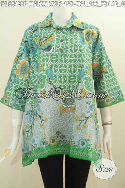 Pakaian Wanita Blus Batik Astri Motif 4 pakaian batik blus dengan motif trendy berpadu nuansa