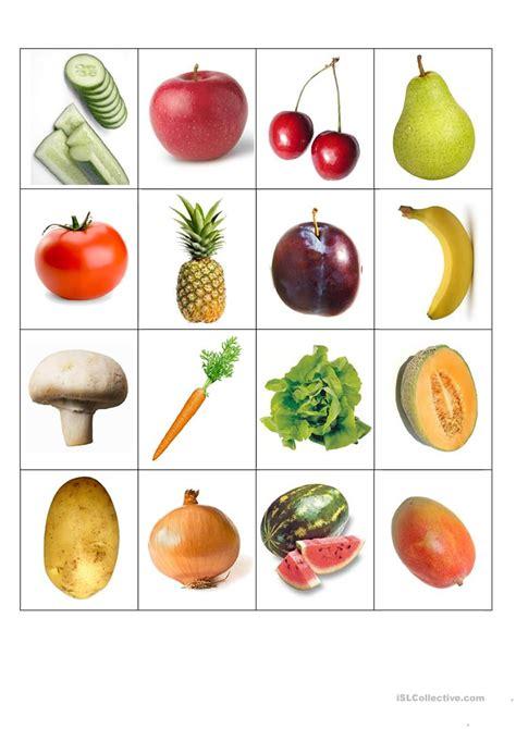 vegetable flashcards printable fruits and vegetables flash cards worksheet free esl