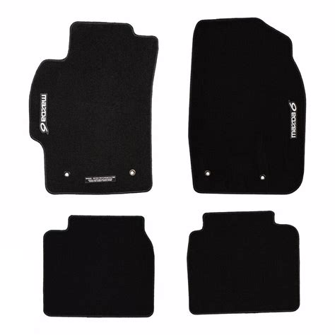 mazda  front rear black carpet floor mats oem    hb ebay