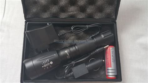 Senter Gladiator Lt 600 ultrafire grade tactical flashlight charger