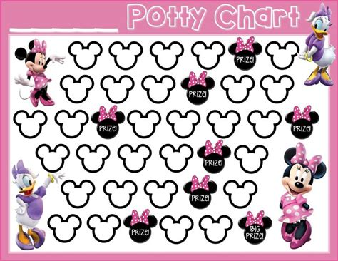 minnie mouse printable reward charts potty training free printable minnie mouse daisy duck