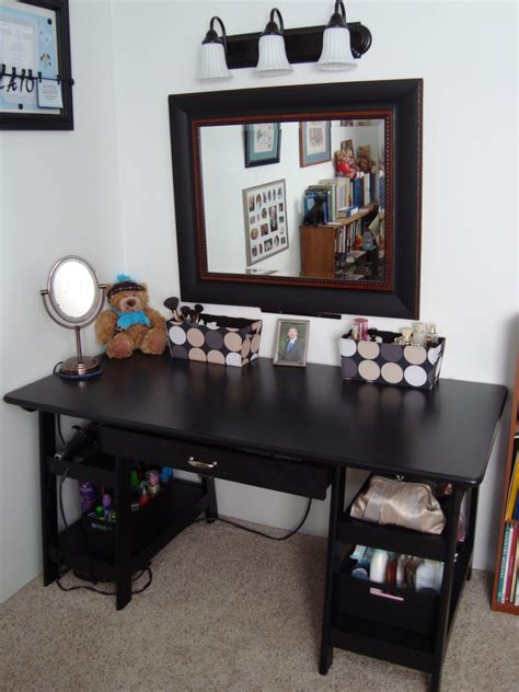 fabulous home decoration accessories feat indoor corner bedroom black wooden make desk with single drawer decor