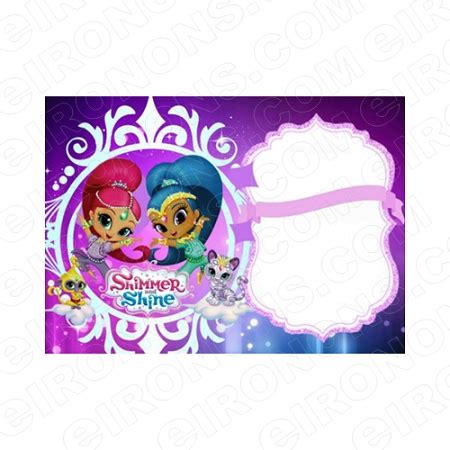 Shimmer And Shine Blank Editable Invitation Instant Download Isas1 Your One Stop Invitation Shimmer And Shine Invitations Templates