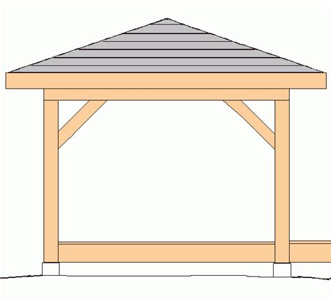 Hip Roof Pavilion Plans Gazebo Hip Roof 10 X10 Plans Backyard Ideas