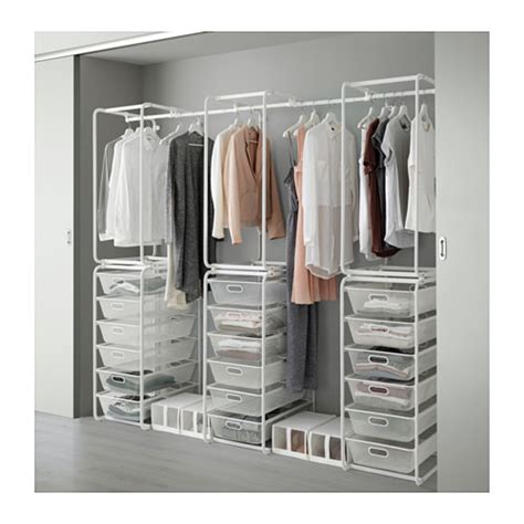 Open Clothes Storage System Algot Frame Mesh Baskets Rod For Frames Ikea