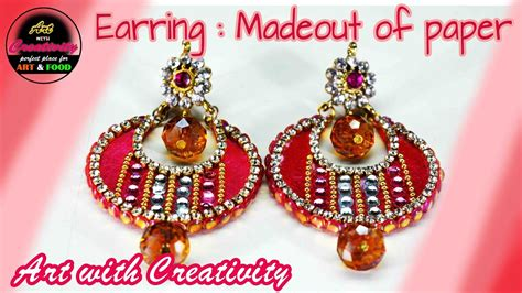 How To Make Earrings Out Of Paper - how to make paper earrings made out of paper with