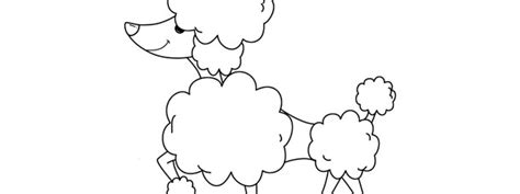 poodle template printable poodle template large