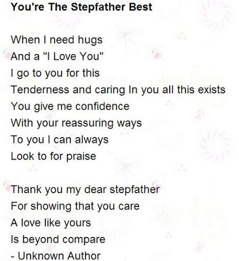 step fathers day poems step quotes from quotesgram