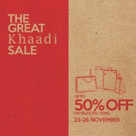 Sale Ready As26 the great khaadi sale upto 50 25 to 26 november 2016 whatsonsale