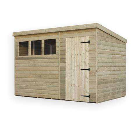 3 X 8 Shed by 10 X 8 Pressure Treated Pent Shed