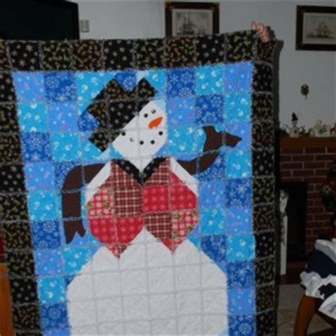Snowman Rag Quilt Pattern by Snowman Rag Quilt Quiltsby Me