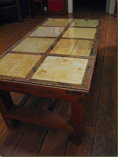 Decoupage Laminate Furniture - coffee table redo renewed with flair the
