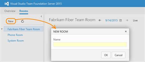 biual chat room chat using team rooms tfs microsoft docs