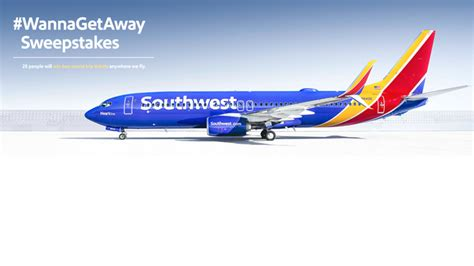 Southwest Airlines Sweepstakes 2016 - wanna get away round trip flight for 25 winners of southwest airlines sweepstakes