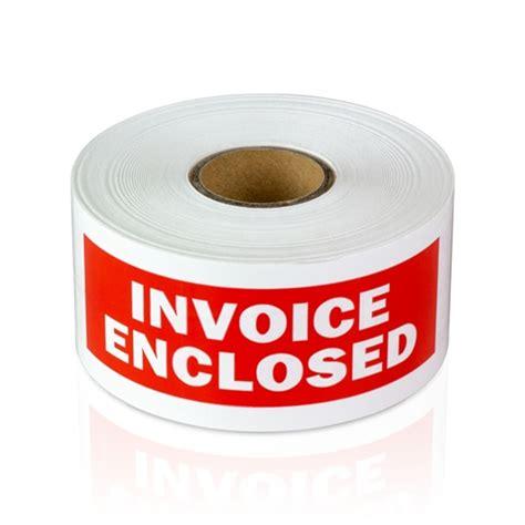 Invoice Enclosed Stickers 1 1 2 quot x 4 quot invoice enclosed stickers
