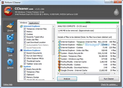 ccleaner on filehippo get some hd space and clean your computer of useless