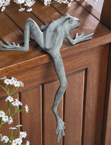 statues and sculptures home decorating mr froggy long leg frog whimsical shelf sitter garden