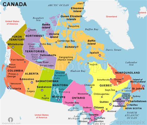 map of canada with major cities canada map political city map of canada city geography