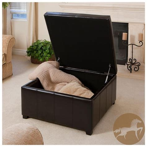 Large Square Storage Ottoman Homesfeed Large Ottomans With Storage