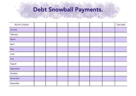 Snowball Debt Plan Worksheet by Unavailable Listing On Etsy