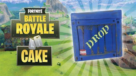 fortnite battle royale supply drop cake