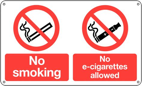 no smoking sign e cigarettes no smoking no e cigarettes allowed multi message signs