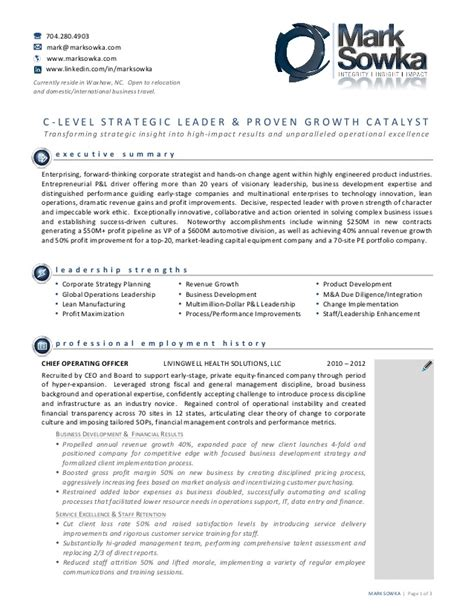 award winning resume for sowka client of emprove performance gr
