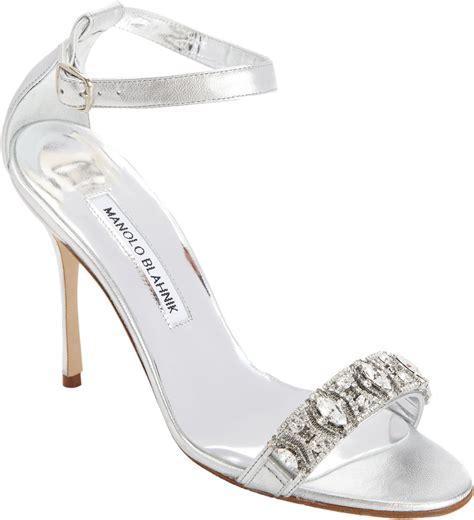 manolo blahnik high heels manolo blahnik high heel in silver lyst