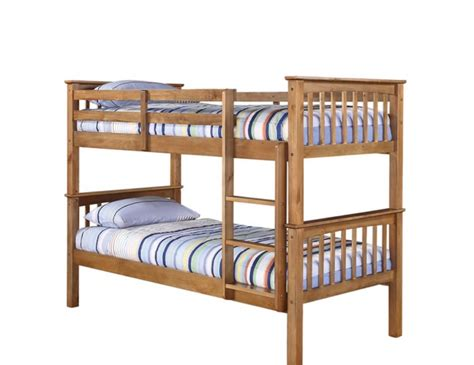 Albany Antique Pine Bunk Bed 3ft Uk Delivery Antique Pine Bunk Beds
