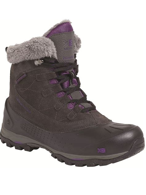 womens outdoor boots womens karrimor snowfur 2 boot black snow boots outdoor