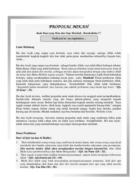 contoh format cv taaruf proposal nikah