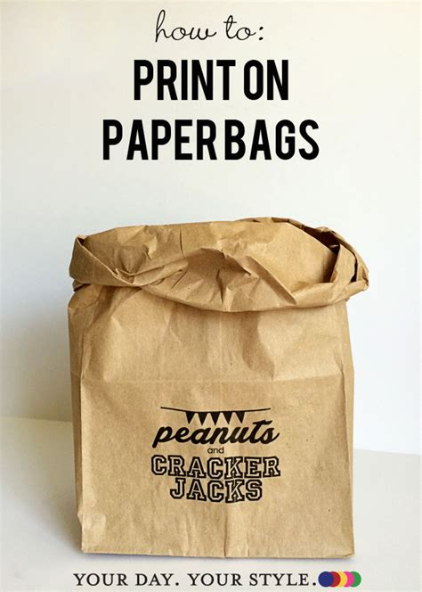 Paper Bags At Home - how to print on paper bags
