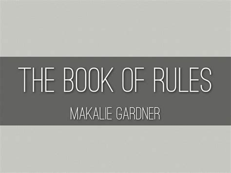 themes of the book rules haiku deck gallery education presentations and templates
