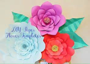Paper Flower Diy Template by Paper Flower Templates Large Diy Backdrop Flowers