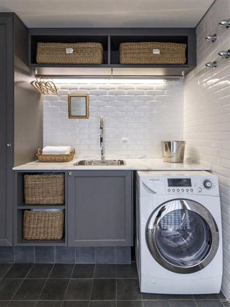 20 Space Saving Ideas For Functional Small Laundry Room Design Small Laundry