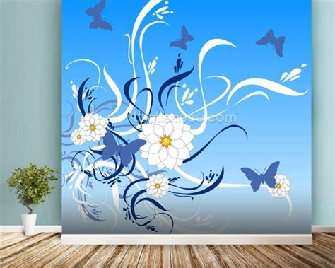 butterfly wall murals butterfly floral wallpaper wall mural wallsauce