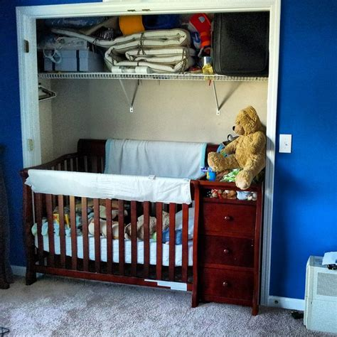 Moving Baby From Crib To Cot by Moving The Crib Toddler Bed To The Closet To Make Space