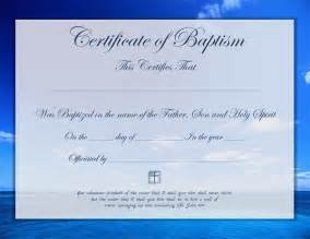 certificate template for baptism template of baptism