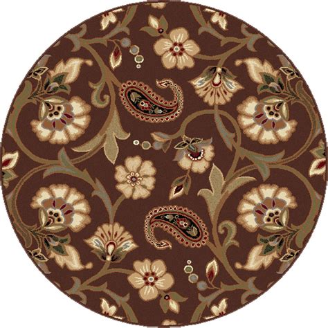 Brown Paisley Rug by Brown Casual Floral Vines Area Rug Transitional Ivory