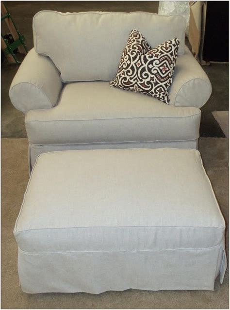Chair And A Half Glider With Ottoman Chairs Home Slipcovers For Chair And A Half And Ottoman