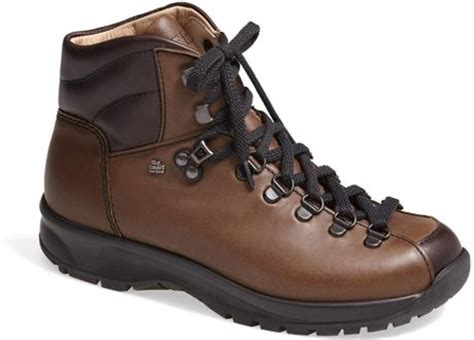 finn comfort boots finn comfort garmisch leather hiking boot in brown ebony
