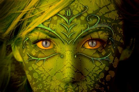 wallpaper green face eyes jewelry beauty creepy and more on pinterest