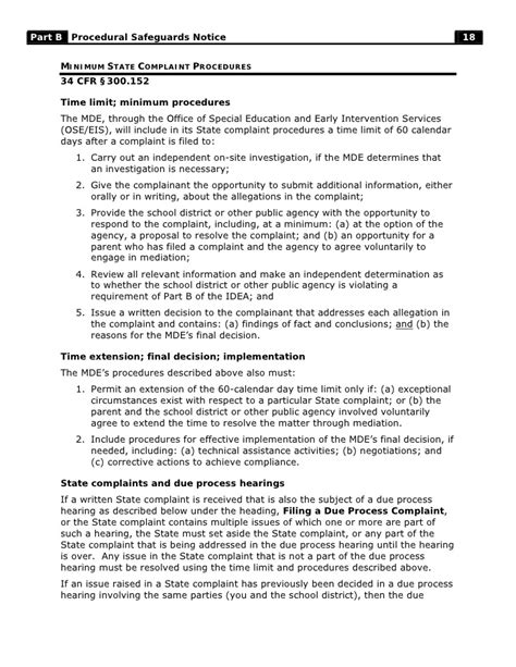 section 20 notice explained part b procedural safeguards notice download pdf